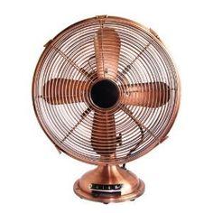 Optimus Antique-Design Table Fan with Copper Finish Copper Decor, Copper Art, Copper Table, Industrial Fan, Vintage Industrial, Antique Ceiling Fans, Color Cobre, Retro Fan, Vintage Fans