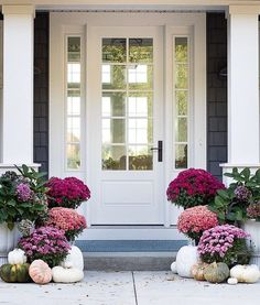 "10.6k Likes, 64 Comments - One Kings Lane (@onekingslane) on Instagram: ""We can't get enough of these colors! @lilypadcottage certainly knows how to do a fall front porch…"""