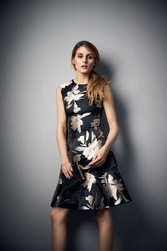 Olivia Palermo for AW16 Campaign | Burford Jacquard Beatrix Dress