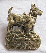 Vintage Brass Scottie Dog Door Knocker