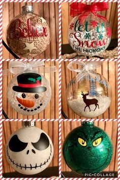 This was fun. We should do it again. Vinyl Ornaments, Christmas Ornament Crafts, Christmas Crafts For Kids, Homemade Christmas, Diy Christmas Gifts, Christmas Projects, Holiday Crafts, Christmas Holidays, Christmas Bulbs