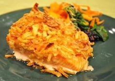 Fried onions make salmon family friendly