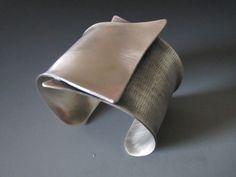 """Crossing"" Sterling Silver Cuff - B Nelson Designs Store"