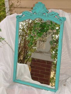 upcycled wall mirror