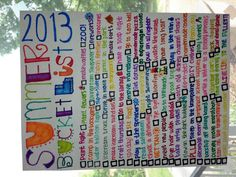 summer bucket list 2013☀