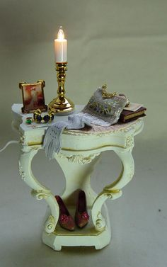 Dollhouse Miniature: Return from a Night at the Opera. Just bought this OOAK miniature for my dollhouse!