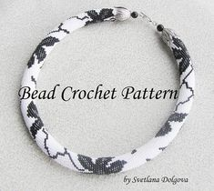 "Pattern for bead crochet necklace ""Triumph"""