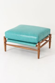Anthropologie  Rhys Ottoman, Carribean Blue