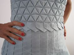 Romina Goransky, an origami teacher based in Buenos Aires, Argentina created this beautiful origami tessellation dress.