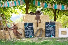 Vintage Cowboy and Cowgirl Party with Lots of REALLY CUTE IDEAS via Kara's Party Ideas KarasPartyIdeas.com #WesternParty #CowboyParty #CowgirlParty #PartyIdeas #Supplies (22)