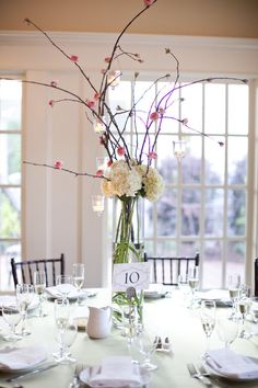Cute tall centerpiece idea.... I can do that!