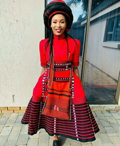Do you want to craft a long gown from your African fabrics and don't have an idea of where to start or what to make? Then this LOVELY XHOSA ATTIRE is for you. African Fashion Traditional, African Traditional Wedding Dress, African Inspired Fashion, Traditional Outfits, Africa Fashion, Xhosa Attire, African Attire, African Print Skirt, African Print Dresses