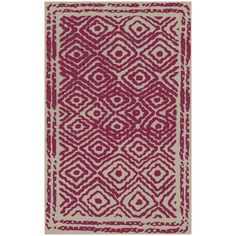 Beth Lacefield by Surya Atlas Cerise Hand Woven Flatweave Rug. #laylagrayce #rug #surya