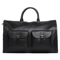Our Garment Weekender leather travel bag combines the functionality of a garment bag with the pack-it-up portability of a duffel bag. Shop travel bags, men's accessories, and more at www.HookAndAlbert.com.