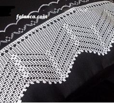 New Lace Samples Crochet Art, Filet Crochet, Irish Crochet, Crochet Doilies, Crochet Stitches, Crochet Boarders, Knit Pillow, Cool Curtains, Crochet Videos