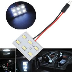 5630 6SMD Car LED White Interior Dome Reading Trunk Panel Light Bulb