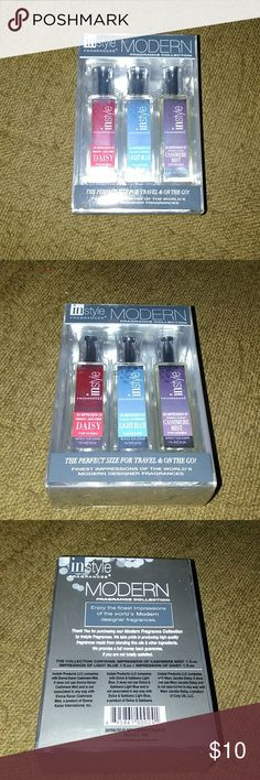 """InStyle Fragrance collection Brand New, InStyle fragrance collection, Designer impressions of Marc Jacobs """"Daisy"""", Donna Karan """"Cashmere Mist"""" and Dolce & Gabbana """"Light Blue"""" ! Instyle Fragrances Makeup"""