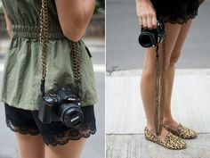 diy chain camera straps by apairandaspare, via Flickr tickle-my-fancy-random-projects-inspiration