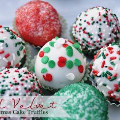 Red Velvet Christmas Cake Truffles