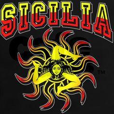 Sicilia Trinacria Sicilian Womens Dark Tshirt