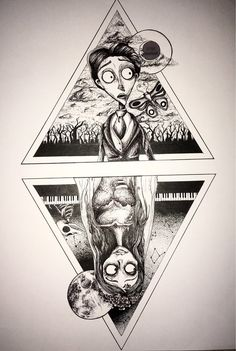 Hand drawn Corpse bride print Pen and ink Corpse Bride, Arte Tim Burton, Tim Burton Stil, Tim Burton Kunst, Estilo Tim Burton, Tim Burton Films, Corpse Bride Tattoo, Corpse Bride Art, Tim Burton Corpse Bride, Corpse Bride Quotes