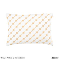 Orange Pattern Throw Pillow  Available on many more products! Type in the name of this design in the search bar on my Zazzle products page!   #abstract #art #pattern #design #color #home #decor #accessory #accent #zazzle #buy #sale #decorate #apartment #house #student #college #living #modern #chic #contemporary #style #life #lifestyle #minimal #simple #plain #minimalism #square #line #white #orange