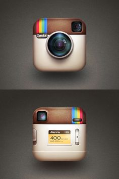 BACK SIDE  A cleaver idea to design the back side of the Instagram icon. by Cole Rise