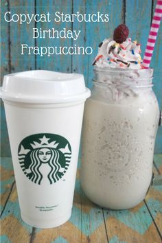 Love Starbuck's new Birthday Frappuccino? Check out this delicious Copycat Recipe here!