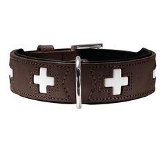 Collare marrone per cani | Hunter Swiss #Collare  #CollarePelle #CollareMarrone #HunterSwiss