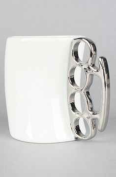 The Fisticup Brass Knuckles Mug by FRED - 20% off with rep code SHANE20