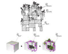 archatlas: Tree-ness House by Akihisa Hirata. Social Housing Architecture, Timber Architecture, Architecture Office, Concept Architecture, Landscape Architecture, Conceptual Sketches, Concept Diagram, School Design, Building Design