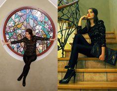 17 Club Baroque Lace Dress, Moschino Heels, Prada Xxl Clutch