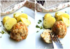 Lekkie pulpety gotowane na wywarze warzywnym. Dieta lekkostrawna. Rozszerzanie diety dziecka. My Favorite Food, Favorite Recipes, Potato Salad, Mashed Potatoes, Ethnic Recipes, Diet, Whipped Potatoes, Smash Potatoes