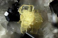 Wöhlerite, NaCa2(Zr,Nb)(Si2O7)(O,OH,F) 2,  Mendig, Laacher See Vulkangebiet, Eifel, Rheinland-Pfalz, Deutschland. Fov 1.11 mm. Copyright: Matteo Chinellato