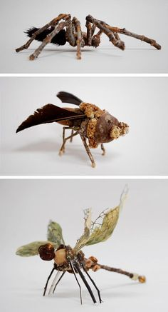 Insect Stick Sculptures: no visible hot glue!