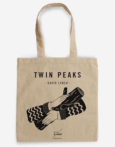 Tote bag Tribute to Twin Peaks  Cooper's Agent  Ask my by BagApart