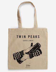 Tote bag  Homenaje a Twin Peaks  Agente Cooper  Ask my Log