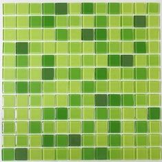 I want this NOW!!  Nerino -Green Glass Mosaic Tile