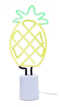 SunnyLife Women's Large Pineapple Neon Light, Yellow, One Size at Amazon Women's Clothing store: