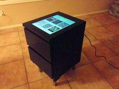IKEA hack: 2 drawer MALM nightstand becomes DIY arcade game console. Retropie Arcade, Bartop Arcade, Retro Arcade Games, Tabletop Arcade Games, Arcade Table, Ikea Malm Nightstand, Diy Arcade Cabinet, Ikea Cabinets, Arcade Machine