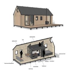 This is a Tiny House for two persons move it anywhere you want or adjust it the way you like it. Come and check it out march 22 at the RAI Amsterdam. Tyni House, Tiny House Cabin, Modern Barn House, Timber House, Cabin Design, Tiny House Design, Backyard Guest Houses, Cottage Style House Plans, Innovative Architecture