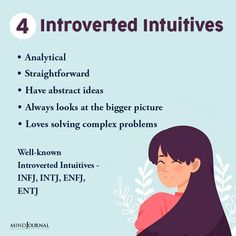 4 Types Of Introverts According To Jungian Psychology Psychology Facts Personality Types, Jungian Psychology, Deep Meaning, Entj, Carl Jung, Big Picture, Perception, Introvert, Intuition