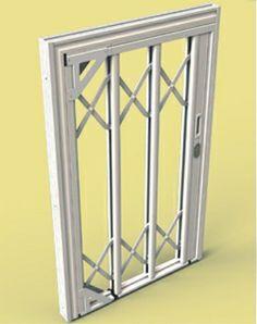 SILIGHT 1 A RUOTABILE -inferriata di sicurezza in acciaio inox rivestia in alluminio, adatta sia per finestre che per porte