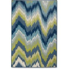 """Grandin Road Cayman Watercolor Outdoor Rug - 3'7"""" X 5'6"""" ($59) ❤ liked on Polyvore featuring home, rugs, outside rugs, indoor outdoor patio rugs, flatweave rugs, flat weave area rugs and indoor outdoor rugs"""
