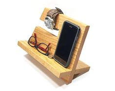 Premium Quality Oak Wood Phone Docking Station / Phone Charging Dock / Organizer / Phone Stand