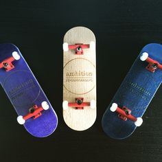 """""""Presenting our #purple, #natural & #blue #pocketpop series. With lower #concave & #certifiedpopcrazy. Visit www.ambitionfingerboarding.com"""""""