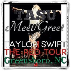 TASU is going to @Sam Taylor Swift : #REDGREENSBORO and is giving you a chance to meet the Creator/Owner of TASU and other Swifties!! If you would like to meet TASU and other Swifties go to this link and comment suggestions for a time/place!: http://taylorswift.com/users/taylorupdates12/blogs/5435672