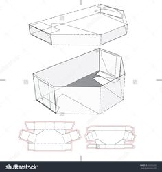 Wedding Gift Box With Lid And Tray And Die Cut Template Stock Vector Illustration 325255292 : Shutterstock