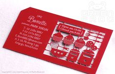 100 Customized Business Cards for a Patissier/Baker/Chef & Bakery/Restaurant, Laser Cut Business Cards, Unique Name Cards - Graphic Files Bakery Business Cards, Business Card Maker, Letterpress Business Cards, Unique Business Cards, Business Card Design, Dm Poster, Name Card Design, Creative Names, Bussiness Card