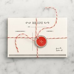 Fancy - Letterpressed Recipe Cards